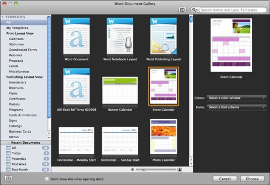 In The Navigation Pane On The Left Hand Side Under Templates Click Either  All Or My Templates (the Latter For Custom Or Downloaded Templates).  Microsoft Word Templates For Reports