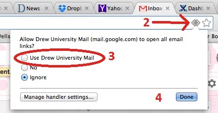 how to change google chrome default email