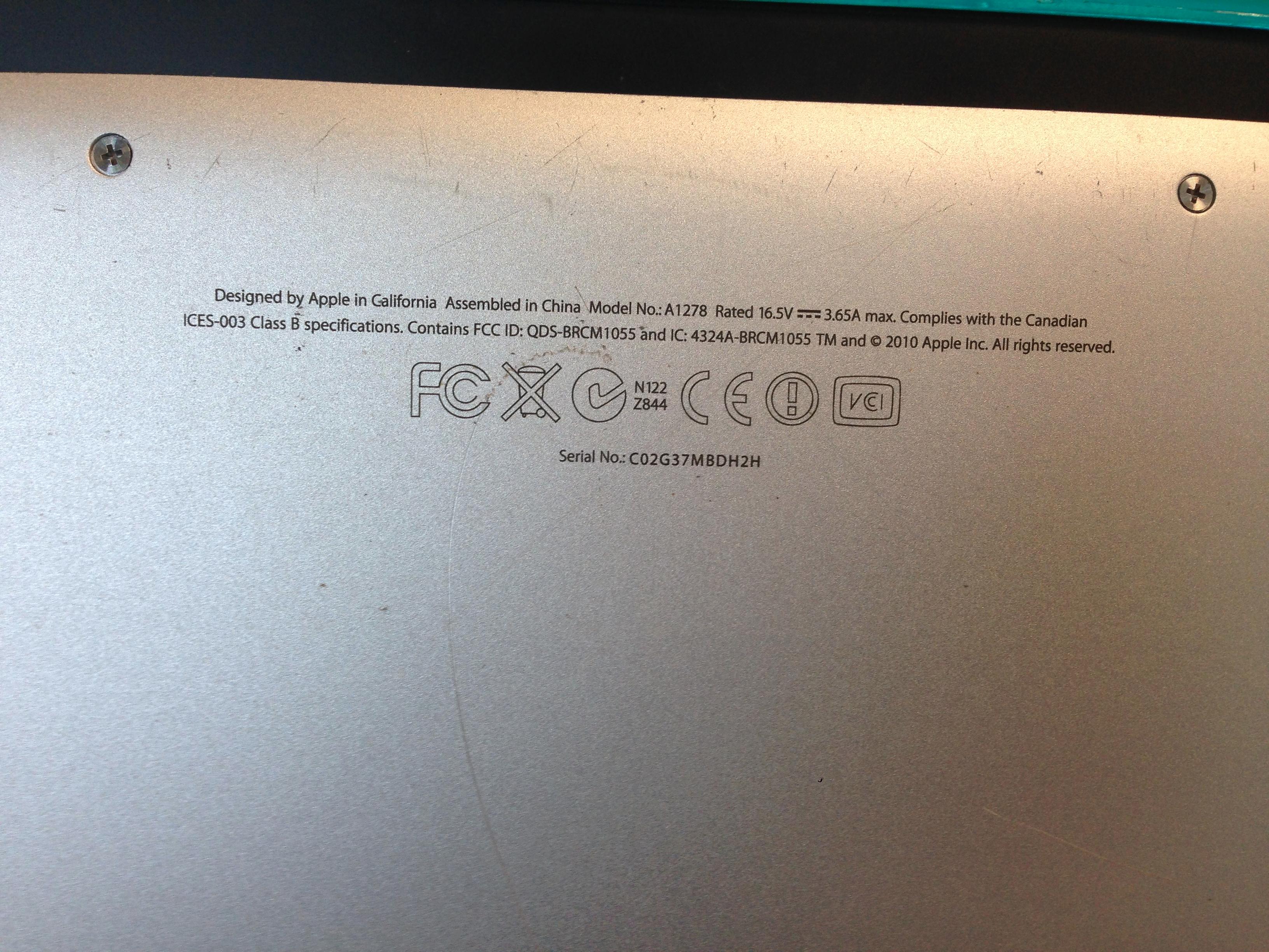 apple laptop serial number lookup