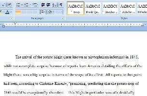 Dissertation font spacing